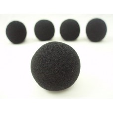 Windscreens black - Headworn Microphone 5 pack